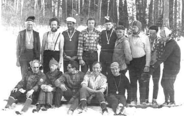 Призеры второго пробега 100км, 1978год